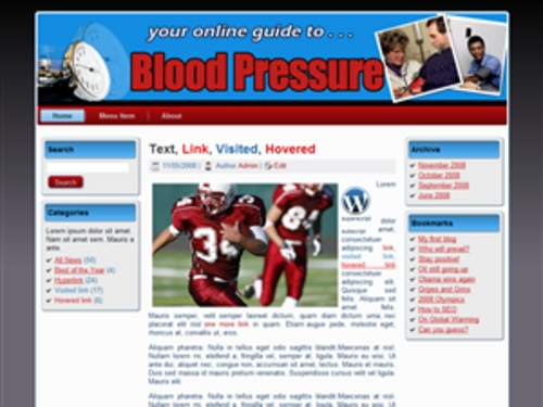 Product picture Blood Pressure Theme with PLR