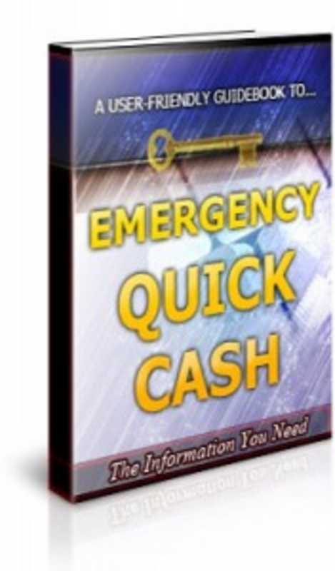 Product picture Emergency Quick Cash  Brandable Unrestricted PLR