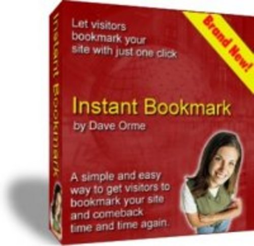 Product picture Instant Bookmark With Master Resell Rights